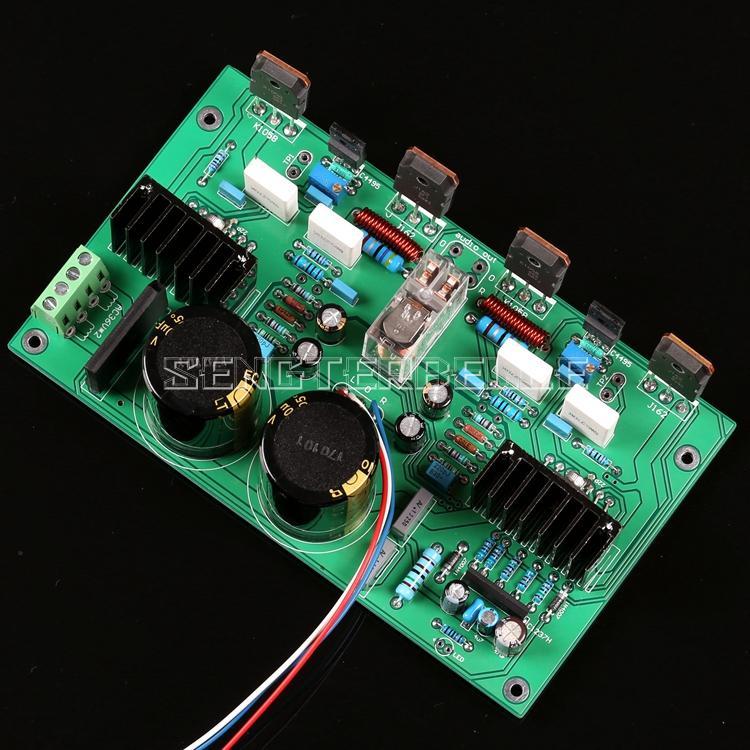 finished 2sa1494 2sc3858 dual channel high power amplifier board UPC1342V Push Field Tube K1058/J162 100W*2 Dual Channel HiFi Power Amplifier Finished Board