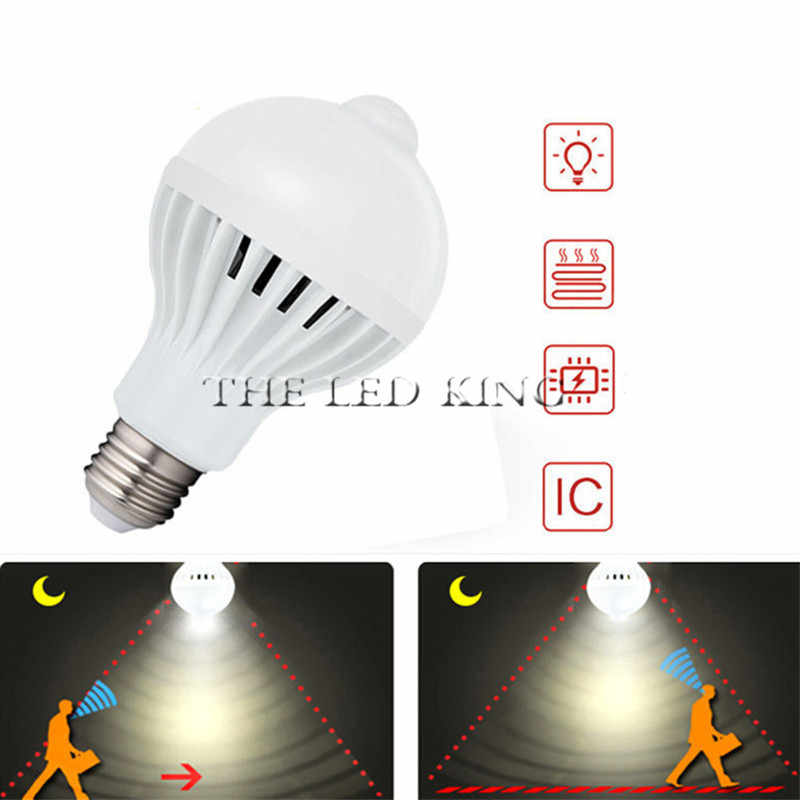 1- 10Pcs PIR Motion Sensor Led Lamp Bulb E27 220V 5W 7W 9W 5730 automatic Smart Detection Led Infrared Body Motion Sensor Light