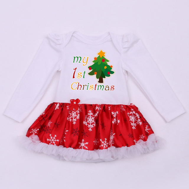 Newborn Christmas Baby Tutu Bodysuits My First Christmas Outfits Baby Girls  Jumpsuit New Born Infant Clothing Bebes Infantil - Newborn Christmas Baby Tutu Bodysuits My First Christmas Outfits