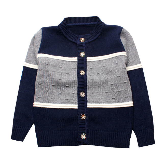 8fb94078a45e Children Boys Sweaters Striped Cotton Top Knit Infant Clothes Winter ...