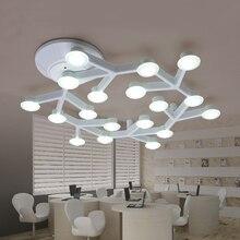 Moderne minimaliste LED plafonnier Blanc Branche supérieure de Plafond lampes génie pour Chambre salon maison déco éclairage mural