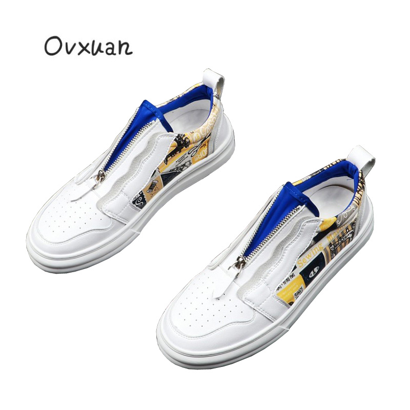 2019 Men s Graffiti Street Hip Hop Sneakers Skateboard Shoes Comfortable Breathable Male Loafers Casual Moccasins