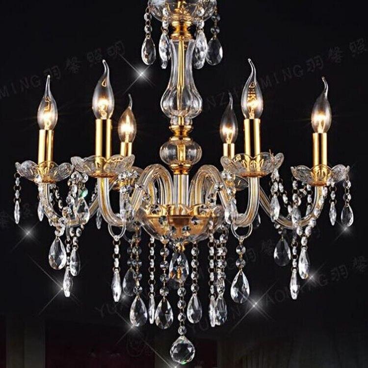 Modern Crystal Chandelier Lighting Luxury Glass Chandelier Light LED Lamp For Foyer Bedroom Lustres de Cristal Candelabro
