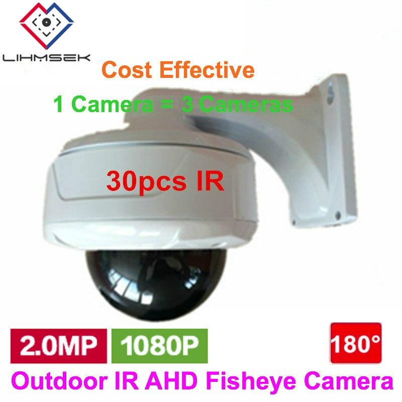 bilder für 1080 P 2.0MP Panorama 180 Grad Weitwinkel Außen Externe Fisheye Kamera AHD HD IR Nachtsicht Überwachungskamera Freies verschiffen