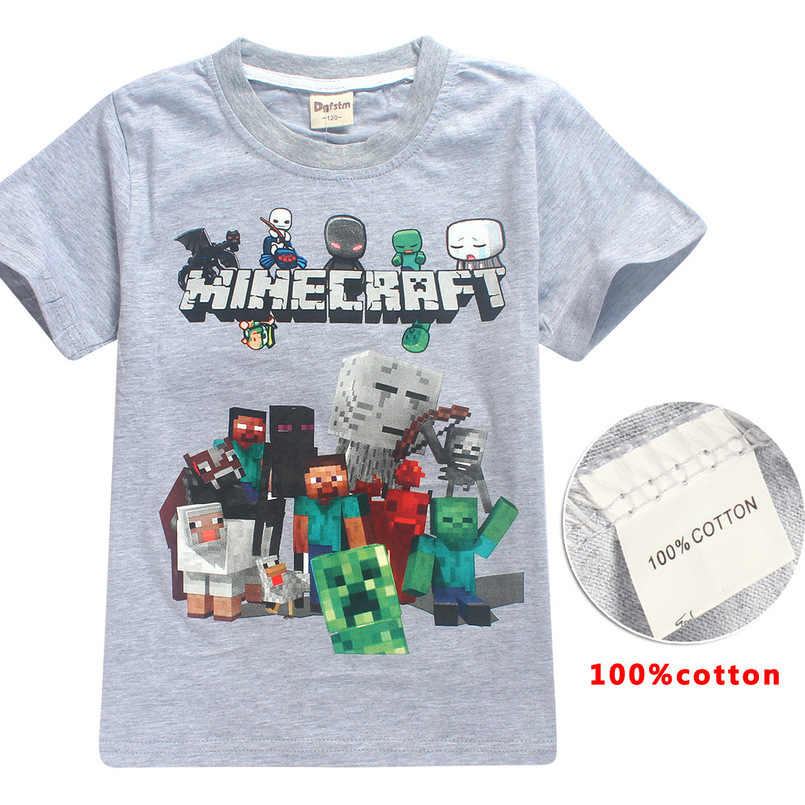 668a3cde141a9 Minecrafts Popular game boy clothes Summer kids T-shirts Tops baby girls  boys Short-sleeved shirts unicorn t shirt clothing