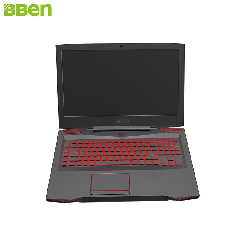 BBEN G17 Laptop Gaming Computer 32G RAM 512G SSD 2T HDD Intel i7 7700HQ GDDR5 NVIDIA GTX1060 Windows 10 RGB Mechanical Keyboard