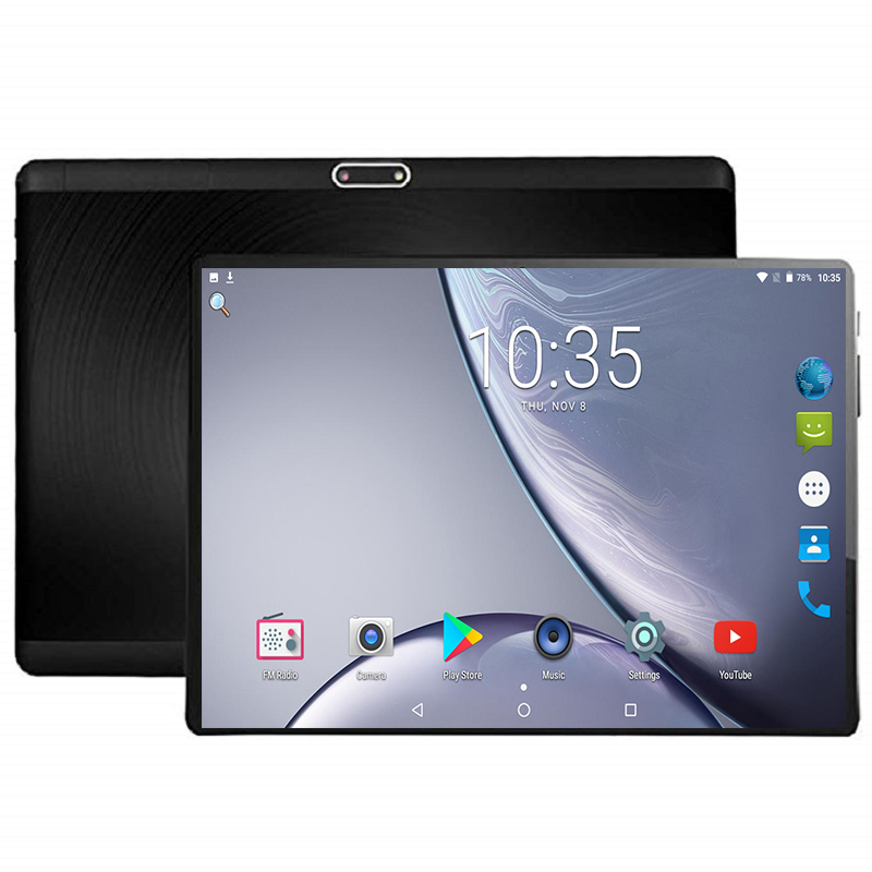 2019 New 10 Inch 4G LTE Tablet PC Octa Core 4GB RAM 64GB ROM 1280x800 IPS 2.5D Tempered Glass 10.1 Tablets Android 7.0+Gifts