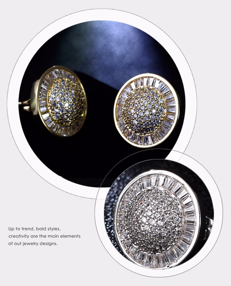 Round shape Crystal wedding bouquets High quality cc earings