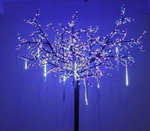 10pcs LED String Light Christmas Home Garden Decoration led curtain lights with end plug 4m 96led AC220v/110V led icicle light