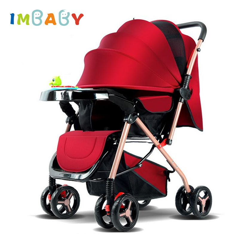 IMBABY Luxury Baby Stroller Carriages With Music Plate Folding Baby Pram For Newborn High Landscape Baby Pushchair For Children gray baby carriage children luxury pushchair for baby with an umbrella waterproof baby stroller folding light baby pram grey