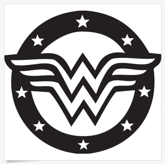Black And White Wonder Woman Logo | www.pixshark.com ...