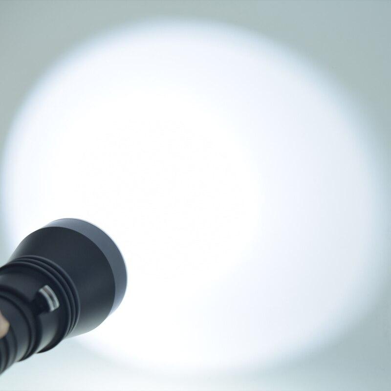 Super Brightness XHP70 LED Yellow / White Light 8000 Lumens Diving Flashlight Tactical 26650 Torch Underwater 100M Waterproof - 6