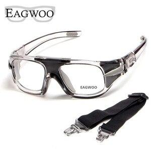 Image 2 - Eagwoo למבוגרים חיצוני ספורט כדורסל כדורגל משקפיים כדורעף טניס משקפי להסרה מקדש מרשם עדשות עביד