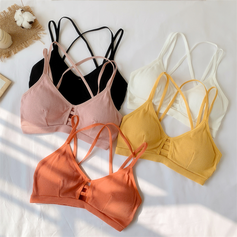 Crop   Top   Women 2019 Women Strap   Top   Women Sexy Backless Leakage Navel Solid Camisole Sexy   Tank     Top   Tube Breathable Crop   tops