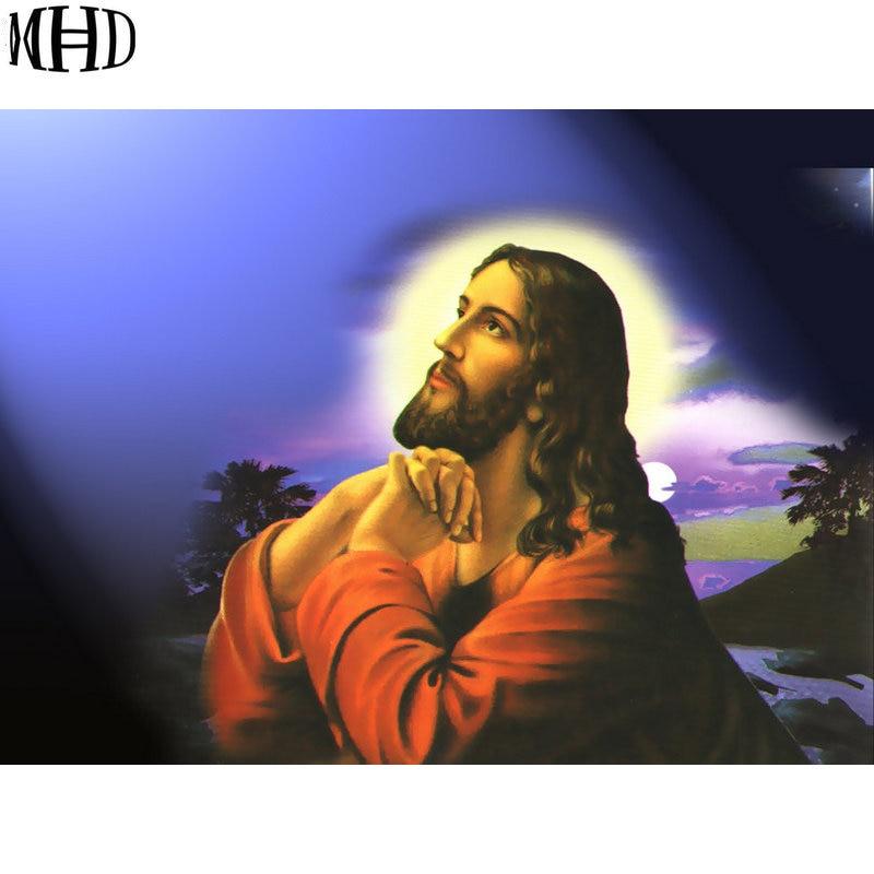 MHD diamond painting religious figure Jesus, inlaying cross-stitch technology, full diamond diy suite home accessories
