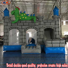 Cheap inflatable dinasour castle bouncer with slide combo for sale