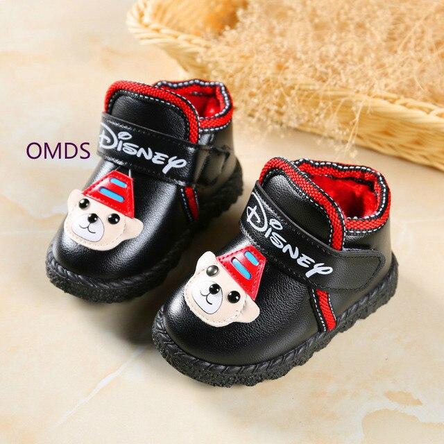 52b37097d9e33c Baby Neue Baumwolle Rutschfeste Verdickung Leder Kinder Schuhe Stiefel  Botas Bottine Girls Shoes Winter Europe Size 22-27 Yxx