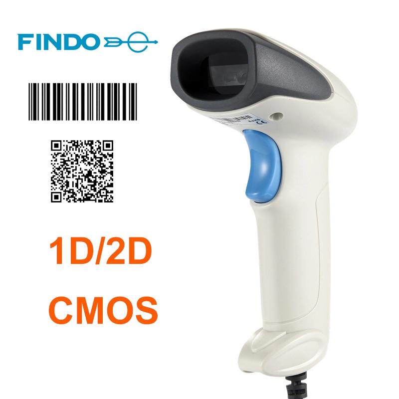 2 шт. H2 переносной 1d 2d CMOS usb сканер штрих-кода Ручной USB считывания штрих-кода автоматическое определение и сканирования для POS и инвентарь