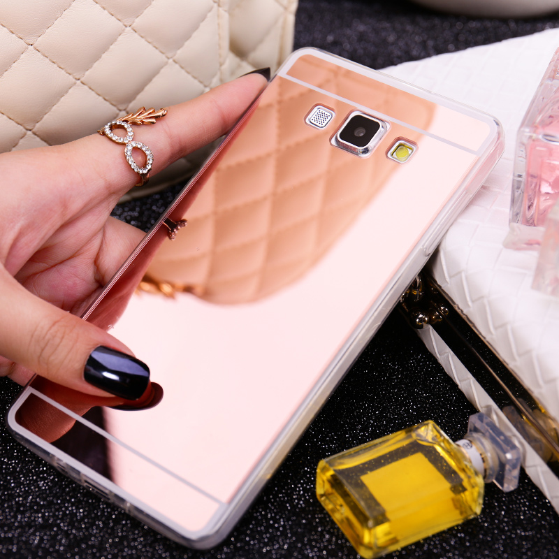 Luxury Rose Gold Fashion classical design Mirror Case Soft