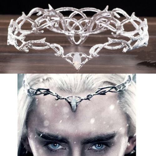 New Cosplay Prop Movie The Hobbit Elven King Thranduil Crown Circlet Elf Wedding Headwear Headband For Girl Boy Adult Size