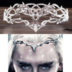 New cosplay prop Movie The Hobbit Elven King Thranduil Crown Circlet Elf Wedding Headwear headband for girl boy adult size