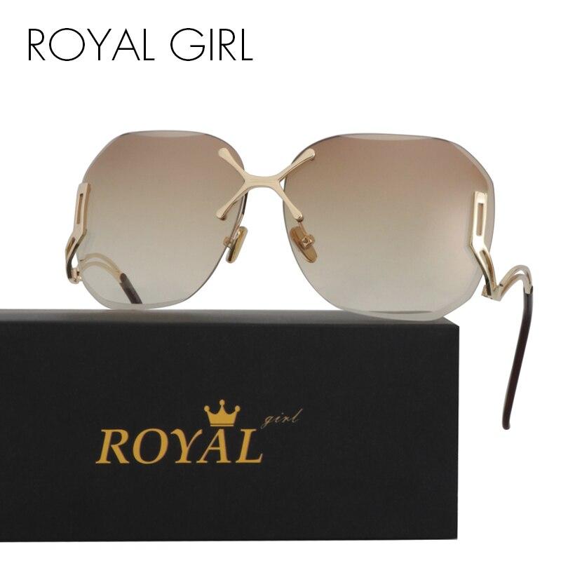 ROYAL GIRL New Arrive Fashion Square Rimless Sunglas