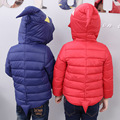 2017 New children's down jacket fashion girls boys hooded down coat winter high quality kids dinosaur monsters outwear 16A12