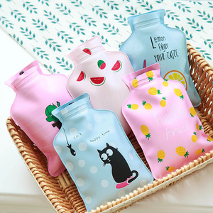 Small Cartoon Cute Portable Hand Warmer Water Injection Storage Bag Hand Warm Water Bag Cute Mini Hot Water Bottles