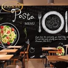 Custom photo wallpaper custom 3D chalk blackboard style salad steak mural theme restaurant bar lounge wallpaper mural