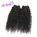 Ali Cabelo Graça cabelo virgem Peruano Jerry Curly 2 pcs por lote extensão do cabelo 1B preto natural cabelo humano weave12 a 28 rápido navio