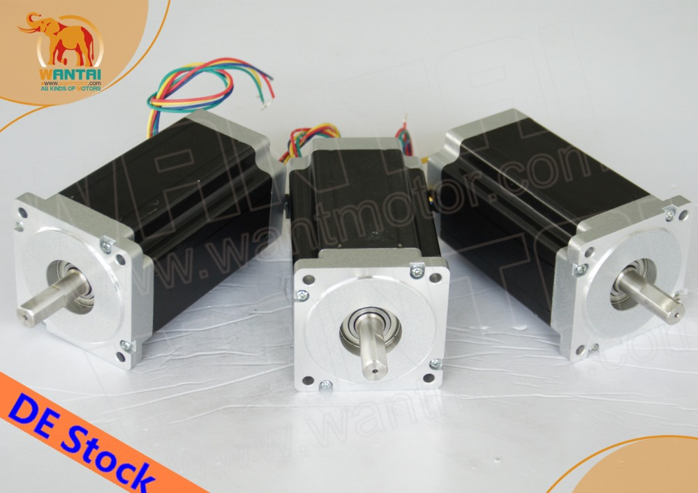 Hot sale! CNC Wantai 3PCS Nema23 Stepper Motor 57BYGH115-003B Dual Shaft 425oz-in 115mm 3A CE ROHS ISO mppt epsolar 10a solar controller tracer1210an with black mt50 remote meter usb temperature sensor