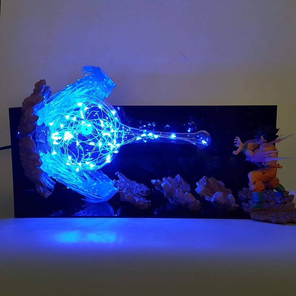 Dragon Ball Lamp Son Goku Kamehameha Led Night Lights Table Lamp Dragon Ball Z Super Saiyan DBZ Lampara Christmas Led Light