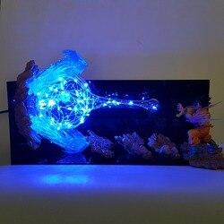 La bola del dragón del lámpara hijo de Goku Kamehameha Led lámparas de noche para mesa lámpara de Dragon Ball Z Super Saiyan DBZ Lampara de Navidad de luz Led
