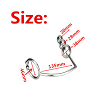 stainless steel anal cock ring with 3 size anal balls hook,metal anal beads plug buttplug,sex toys for men and women butplug