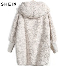 Hooded Outwear Winter Newest Fashion Design Women's Apricot Batwing Long Sleeve Loose Streetwear Hooded Coat