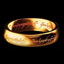 ZORCVENS 2019 Midi Stainless Steel One Ring of Power Gold Color Wedding Ring Lovers Women Men Fashion Jewelry Wholesale(China)