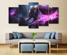 Viktor League of Legends Game HD Print Paintings on Canvas Wall Art for Home Decorations 5 Piece Painting
