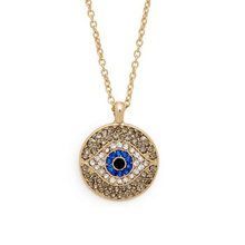 New Arab Crystal Evil Eyes Pendants Necklace Chain Round Lucky Statement Necklace for Women Gift collares 2015