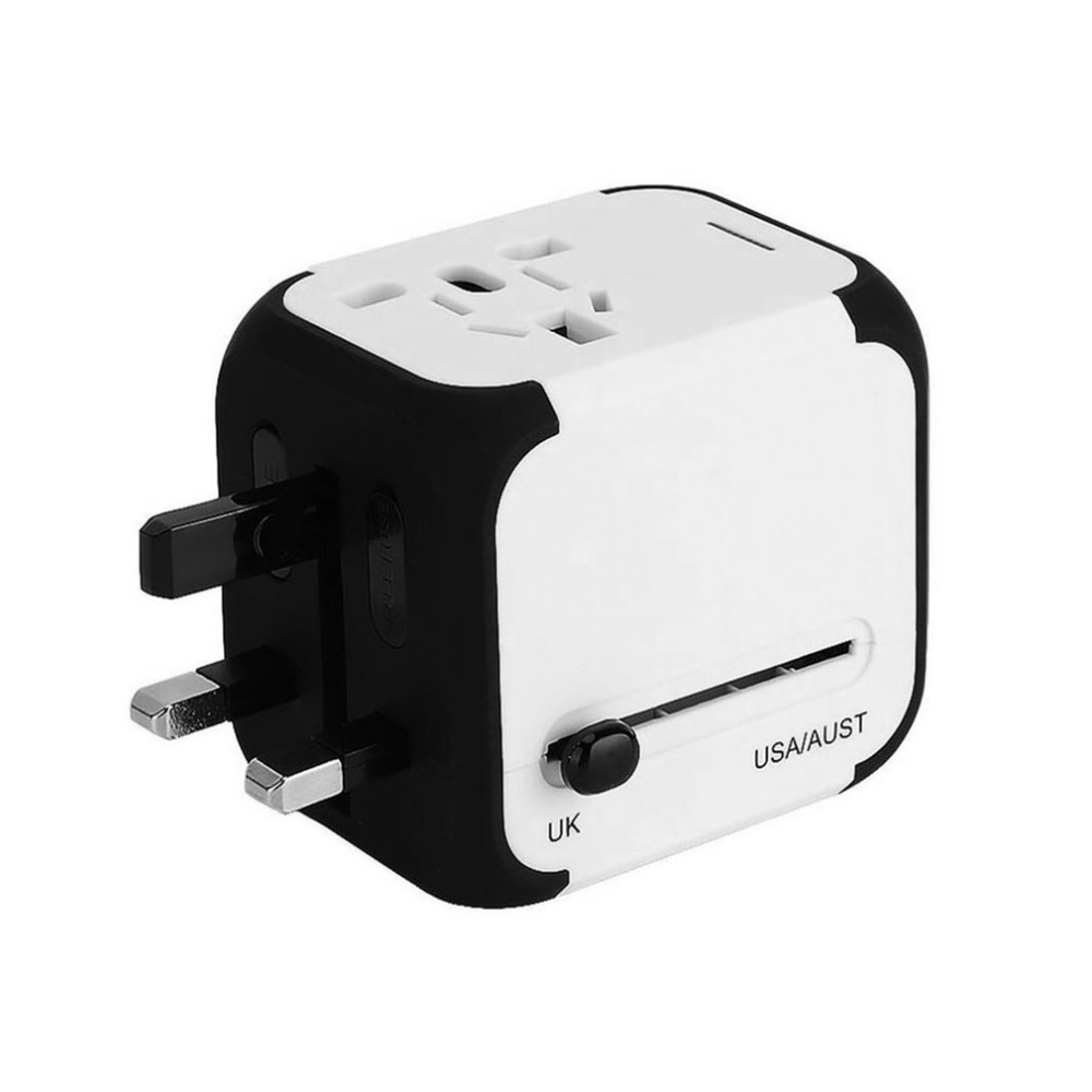 Travel Adapter Worldwide Power Converters All In One Multifunctional AC Adapter Wall Charger With Dual USB Ports