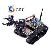 Intelligent Robot Car Robotic Vehicle DIY Kit With Mechanical Arm Camera Wifi Wireless Android IOS PC