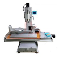 Desktop wood Router 5 Axis 2.2KW CNC Milling Machine Column Type with free cutter vise collet drilling kits