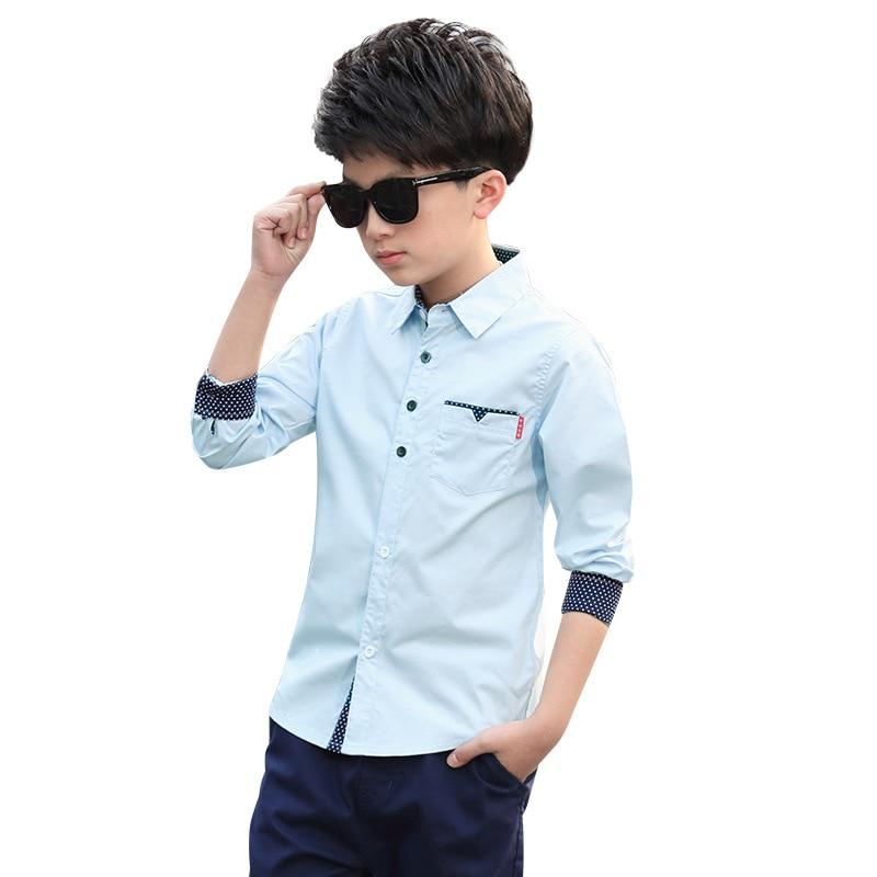 Kindstraum Boys Shirts Solid Pattern Kids Fashion Cotton Shirts Long Sleeve Spring & Autumn Children Brand Clothes, MC837