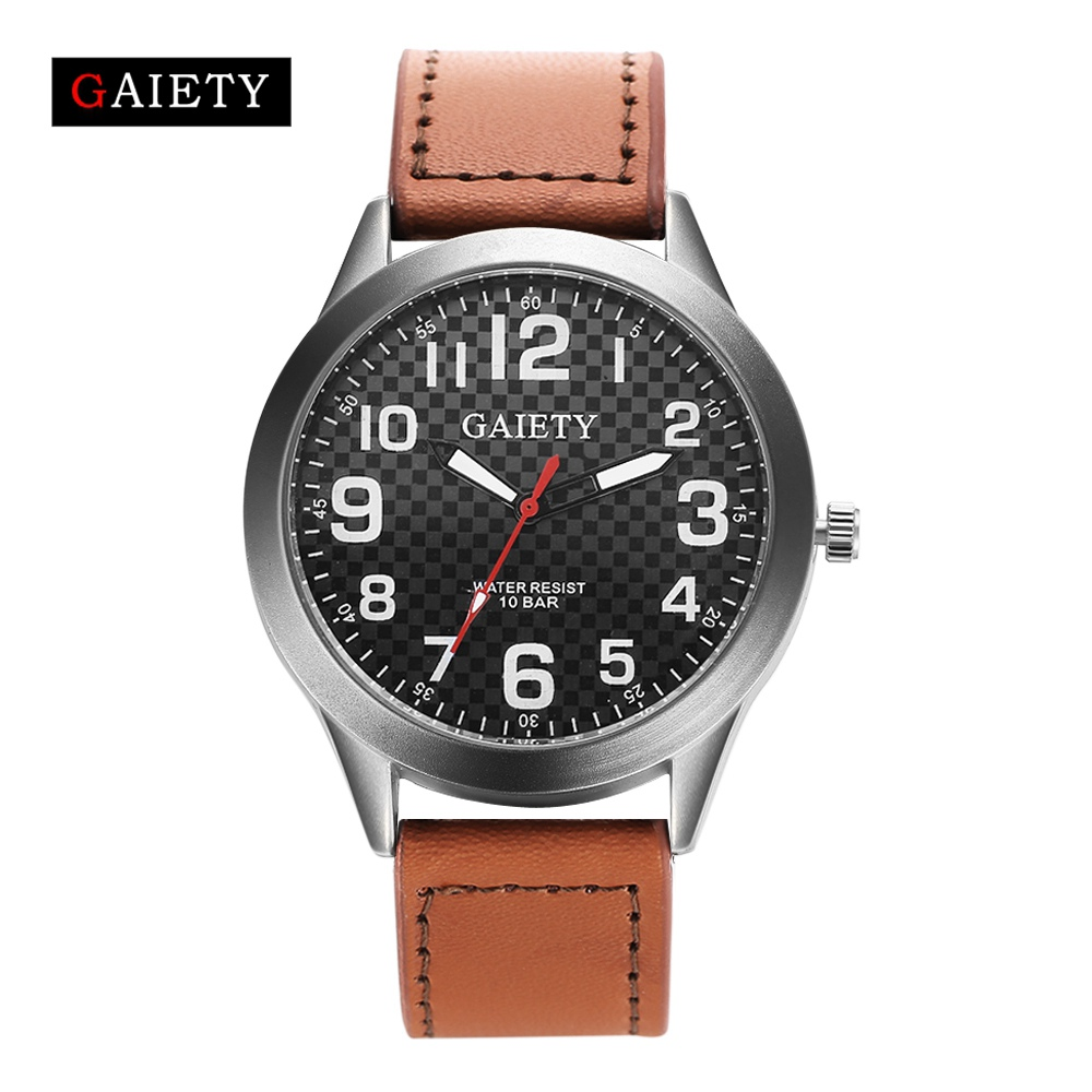 GAIETY Famous Brand Luxury Men Watch Leather Band Quartz WristWatch Men Watches Top Brand Fashion Business Relogio Clock Watch simplicity classic women watch famous 2016 luxury brand leather band wrist men quartz watches relogio masculino wristwatch