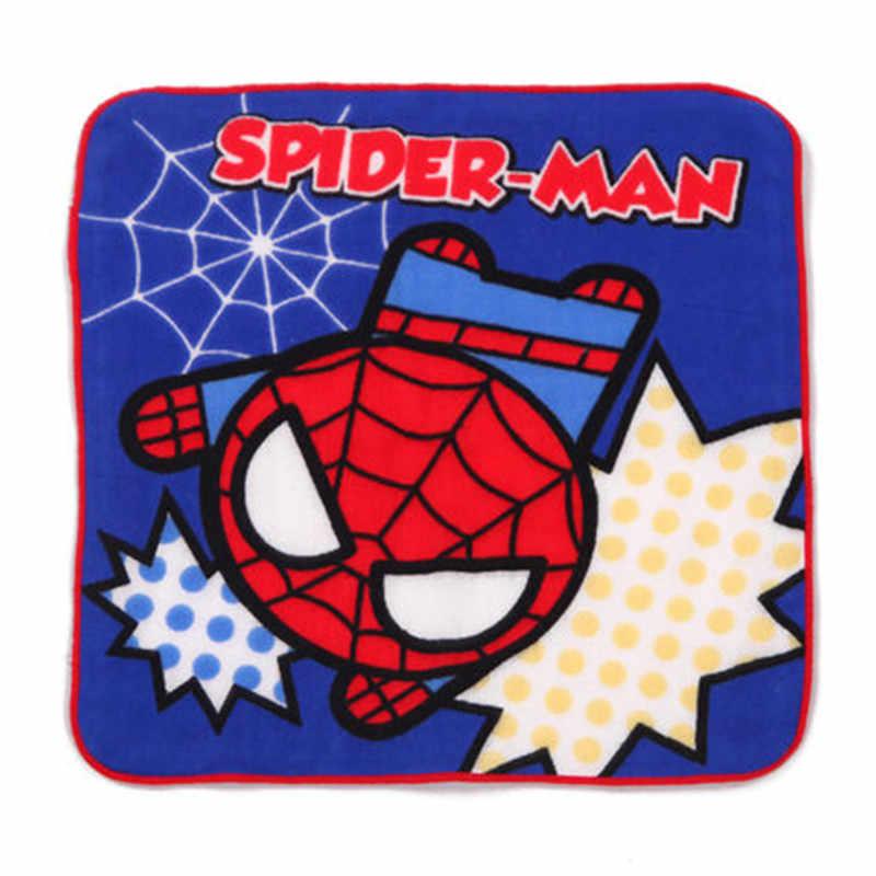 マーベルアイアンマン正方形スカーフ 100% 綿ガーゼ漫画ハンカチスパイダーマン 25 × 25 センチメートル