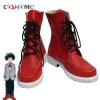 Coshome Boku No Hero Academia Shoes Izuku Midoriya Cosplay Costume Shoes My Hero Academia Red Boots