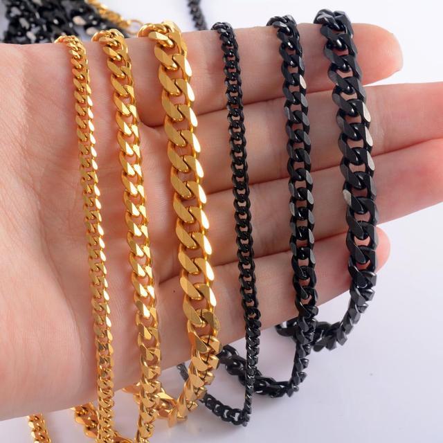 Cuban chain necklace [black]