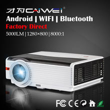 Android HDMI Wifi USB Bluetooth Home Video LED Projector Theater Cinema LCD Multimedia Smart Beamer Best Gift for the Elderly