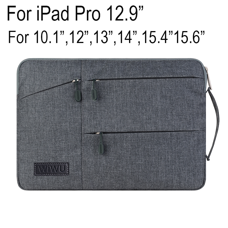 Gent business Laptop Sleeve Pouch For iPad Pro 12.9 inch Handbag For MacBook 13.3 inch High-capacity Bag Tablet Notebook Pouch ...