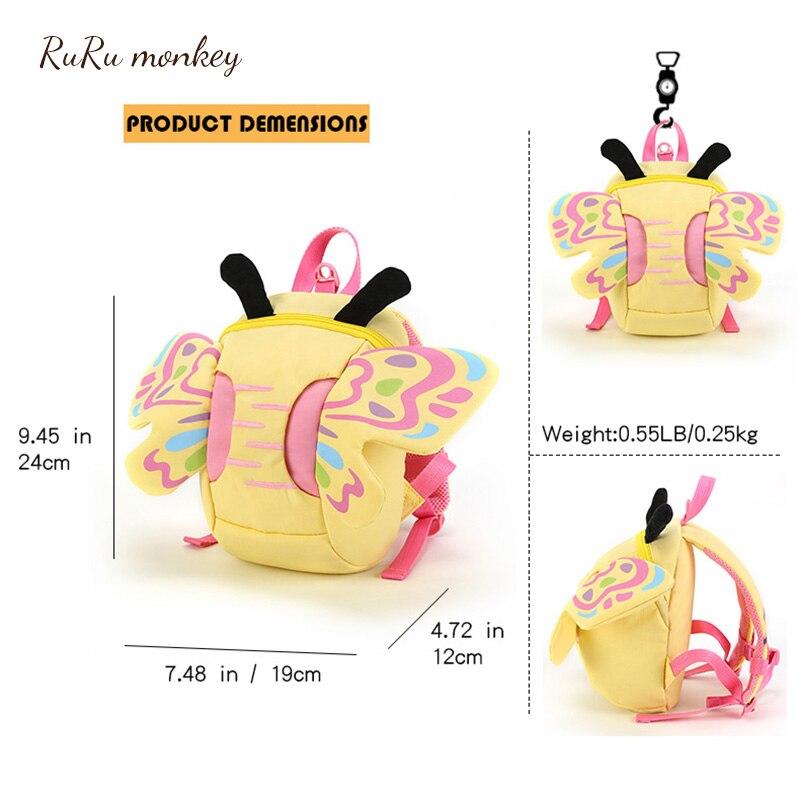 Kinder Tier Bienen Mini Rucksack Plüsch Schul Baby Mädchen Schmetterling Kinder Nette Bookbag Kindergarten Spielzeug Geschenke Schule Taschen