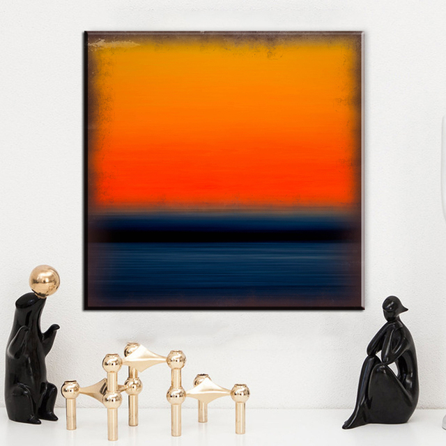 zz171 abstract canvas art mark rothko orange blue canvas paintings